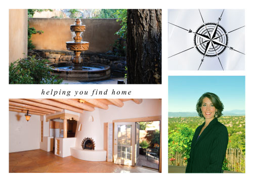 Love Santa Fe homes real estate marketing postcard