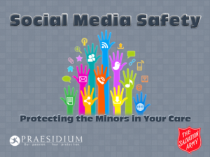 Salvation Army: Social Media Safety e-learning course title screen